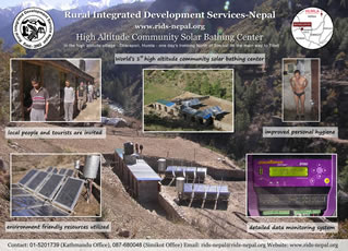 High Altitude Solar Bathing Center at Dharapori, Humla